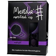 Merula Cup midnight (schwarz) - Menstruationstasse aus medizinischem Silikon