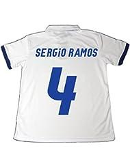 EQUIPACION REAL MADRID SERGIO RAMOS 2016-2017. ES UNA REPLICA OFICIAL DE LA PRIMERA EQUIPACION. (TALLA 12)