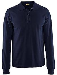 Blakläder 338810508900X XXL Größe 3X Große Lange Ärmel Polo Shirt–Navy Blau