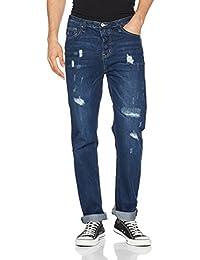 Springfield Denim Regular Lavado Oscuro con Rotos, Pantalones para Hombre