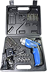 Ford Compact Electric Rechargeable Screwdriver With 44 Free Bits Set and Built-In LED Light, 3.6V 1500 Mah Lit