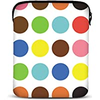 MySleeveDesign – Funda universal de neopreno para iPad Pro 9.7 , Air 2 y tablet de 9.7 / 10 / 10,1 pulgadas – VARIOS DISEÑOS Y COLORES - Colored Points