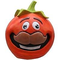 JYJM Cosplay Durr Burger Funny REX Dinosaurier Lustige Tomatehead Maske Kostüm Party Zubehör Schmelz Gesicht Latex Kostüm Halloween Scary Maske Spielzeug (AS anzeigen 02)