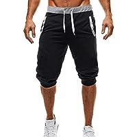 Yuxin Pantalones Cortos Deportivos para Hombre - Fitness Jogging Running Pantalón con Bolsillos Moda Cómodo Cintura Elástica Casual Gym Pantalones