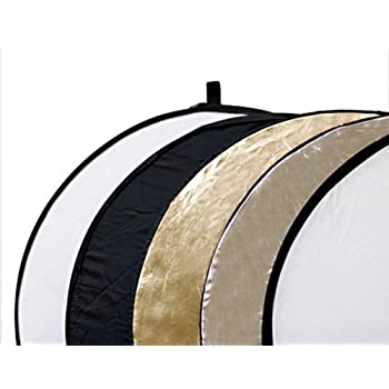 Delamax 5in1 Faltreflektoren Set - 80cm Ø - gold, silber, schwarz, weiß und Diffusor