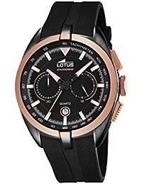 Amazon.es  Lotus - Caucho   Relojes de pulsera   Hombre  Relojes e504dec2301c
