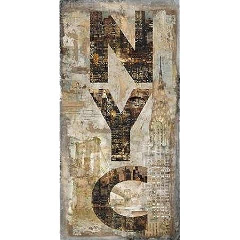 Impresión de Arte Fino en lienzo : NYC Vertical by Wilson, Luke - Grande (107 x 213 Cms)