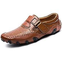 Qzny Zapatos de Cuero para Hombres 2018 Zapatos Casuales de Cuero para Hombres nuevos de otoño