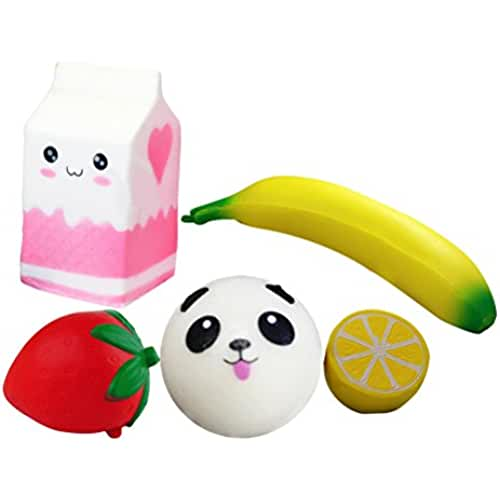 juguetes kawaii TOYMYTOY 5Pcs Squishies juguetes de descompresión juguete Fruta para niños adultos