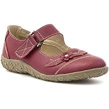 Cushion Walk - Zapato cómodo con tira, de cuero, rojo, para mujer Cushion Walk