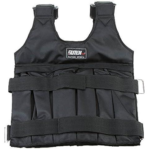 vyage (TM) di alta qualità giubbotto zavorrato Max carico Peso Gilet Giacca da boxe allenamento invisibile Sabbia Abbigliamento (vuoto)