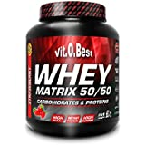 Vit-O-Best Whey Matrix 50/50 Proteínas, Sabor a Chocolate - 907 gr