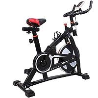 Preisvergleich für Blackpoolal S300 Hometrainer LCD Fitnessfahrrad Heimtrainer Fahrrad Fitness Bike Indoor Cycle Trimmrad Cycling Rad Sattel, Fitnessbike Fahrradtrainer Ergometer bis 200 KG