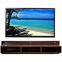 DeckUp Meritus-L Wall TV Unit (Dark Wenge, Matte Finish)