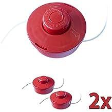 2x Nemaxx FS2 carrete de hilo doble con arrancador automático accesorios de corte hilo de nylon línea de nylon carrete para desbrozadora gasolina - rojo