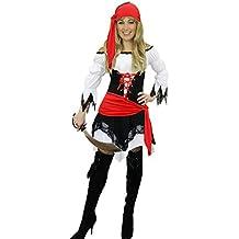 Yummy Bee - Edles Piraten Karneval Fasching Kostüm Damen + Hut Schwert  Entermesser Karibik Größe 36 0a45a6f73c