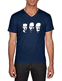 Touchlines Walter Jessie Mike Faces Heisenberg, T-Shirt Homme