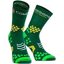 Compressport Trail 2.1 - Calcetín unisex, color verde, talla 1