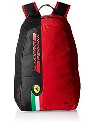 Puma mochila Ferrari Fan Wear Backpack, rosso Corsa/Puma Black, 22.2 x 12.5 x 15.5 cm, 17 litros, 074273 01