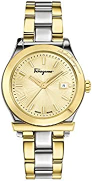 Salvatore Ferragamo Women's 'Ferragamo 1898' Swiss Quartz Stainless Steel Casual Watch, Color:Two