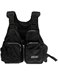 Gazechimp Veste de Pêche Multi-poche en Nylon Imperméable à l'eau Gilet pour Sport Nautique Plein Air