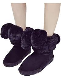 UFACE Stilvolle Faltbare Kaninchen Ohren Frauen Winter Stiefel warme Schuhe  Plüsch Ankle Snow Boot 1f0790690c