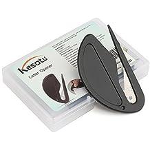 Kesote 4 Stück Brieföffner Folienschneider mit Metall Klinge und Kunststoff Griff Einschulung Schulanfang, Schwarz
