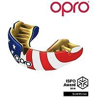 Opro Power-Fit | Adult Handmade Mundschutz | Gummischild für Rugby, Hockey, Lacrosse, Boxen und andere Kontakt - und Kampfsportarten (ab 10 Jahren) | 18 Monate zahnärztliche Garantie