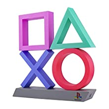 Paladone Playstation Icons XL | 3 Modes-Music Reactive Game Room Lighting | Eco-Friendly BDP Breakdown Plastic | Perfect for Home, Office and Bedrooms, 75 W, Multi-Colour