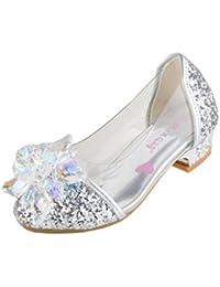 Cristal Bombas Girls Glitter Rhinestones Princesa Tacón Bajo Partido Zapatos de Danza