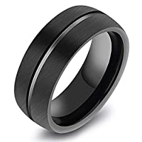 JewelOra TS0247 Tungsten Jewelry Ring For Men Size 12USA