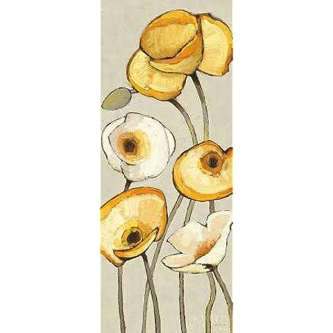 Feeling at home, Stampa artistica x cornice - quadro, fine art print, Jaune Gris Panel I cm 102x41