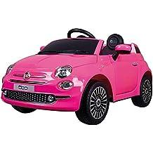 Motoor Kids Coche eléctrico para niños Fiat 500 con Mando Radio Control y batería 6V (