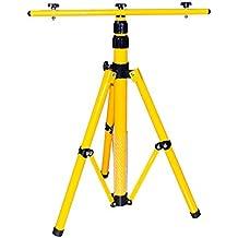 Trípode para LED de Foco, Foco halógeno de–Foco, etc. Altura Regulable Hasta 1,60m, amarillo