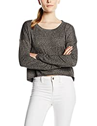 Only Onlflorence L/S Plain Cropped Swt, Sweat-Shirt Femme