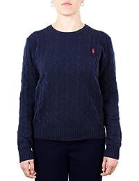 Polo Ralph Lauren Maglia girocollo in Lana e Cashmere Donna Mod. 211525764 7b41a2a8f8