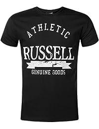 Russell Athletic Printed Logo Mens Short Sleeve Top - Black 8d954929b6d76
