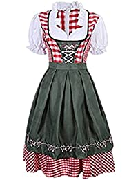 Prettycos Disfraz de Bavara Tirolesa Mujer vestido de Oktoberfest