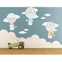 Adesivi murali bambini, Stickers murali Kit Le Mongolfiere