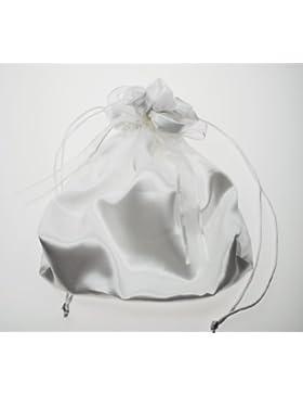 Brauttasche Brautbeutel Brauthandtasche Hochzeit Trauung Braut Kommunion festlich | Satin | 20 x 21 cm