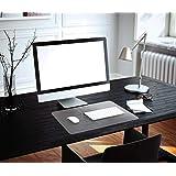Desktex, proteggi scrivania in policarbonato con retro antiscivolo, rettangolare, 48x 61cm, trasparente. liscio con retro in PVC 43cm x 56cm Clear