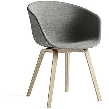 hay about a chair 23 armlehnstuhl gepolstert grau stoff remix 133 gestell eiche geseift mit. Black Bedroom Furniture Sets. Home Design Ideas