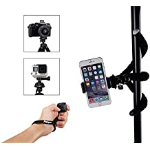 Trípode Flexible, Fotopro Soporte Para Teléfono Móvil, iPhone, Cámara, GoPro, con Disparador a Distancia por Bluetooth. (Más largo)