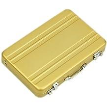 Ewin24 Aluminio titular de la tarjeta de crédito de la cartera Tarjeta de visita moneda de la caja Mini Maletín Case tarjeta de visita
