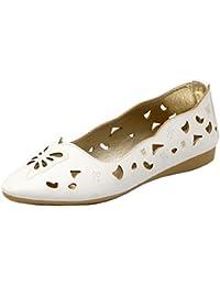 TAOFFEN Mujer Comodo Plano sin Cordones Zapatos Hueco Boca Baja Zapatos