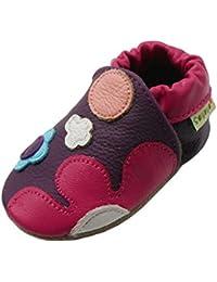 Sayoyo fleurs chaussures de bébé en cuir souple chaussures semelle douce