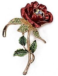 5549d8a771dc Hosaire Broches de Rose de Mujer Niñas 62X42 mm Broches y prendedores Retro  Pin Ramillete Acero