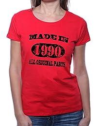 Mister Merchandise Femme Chemise T-Shirt Made in 1990 All Original Parts Years Jahre Geburtstag