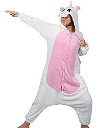LATH. PIN® Unisex Kigurumi disfraz Anime Cosplay diseño de oso panda con capucha Onesie Pijamas Adulto Anime dibujos animados pijamas de Halloween S, M, L y XL