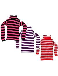 IndiWeaves Boys Wollen Warm High Neck Full Sleeves T-Shirt/Inner/Skivvy for Winter Pack of 3
